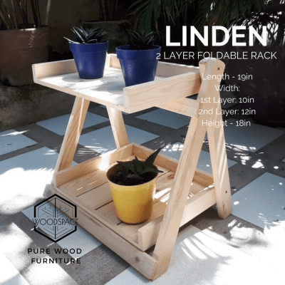 Linden 2 Layer Foldable Rack
