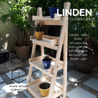 Linden 4 Layer Foldable Rack
